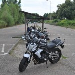 les motos rangées
